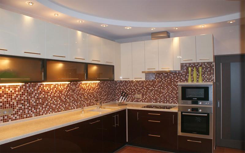 Натяжной потолок на кухне от StyleCeiling в Краснодаре